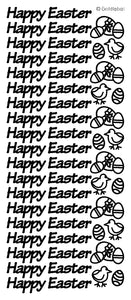 Happy Easter Peel and Stick Sheet - Silver