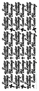 Easter Blessings Peel and Stick Sheet - Silver