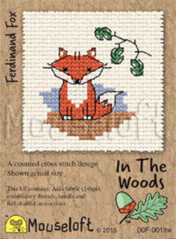 In the Woods Mini Cross Stitch Kits By Mouseloft