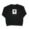 Block Print Crew Neck Black