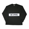 Panel Long Sleeve Tee Black