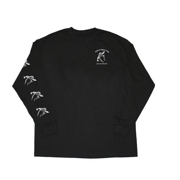 Chain Religion Long Sleeve Black