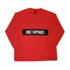 Panel Long Sleeve Tee Red