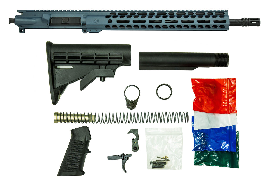 "16"" 5.56mm with 14"" M-Lok Rifle Kit - Blue Titanium"
