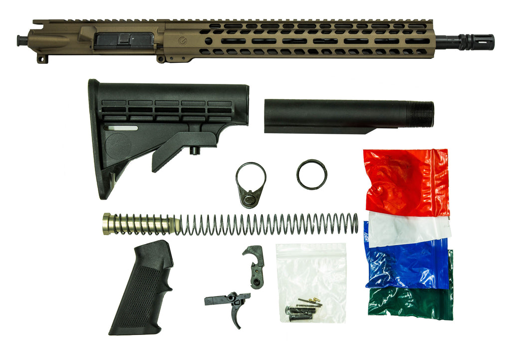 "16"" 5.56mm with 14"" M-Lok Rifle Kit - Burnt Bronze"