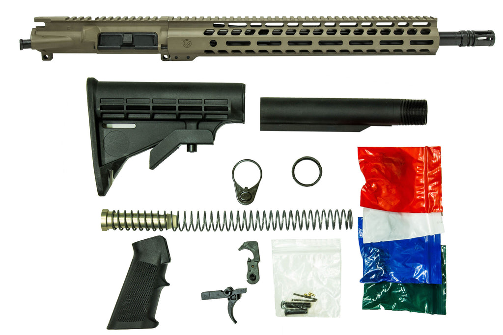 "16"" 300 Blackout with 14"" M-Lok Rifle Kit - FDE"