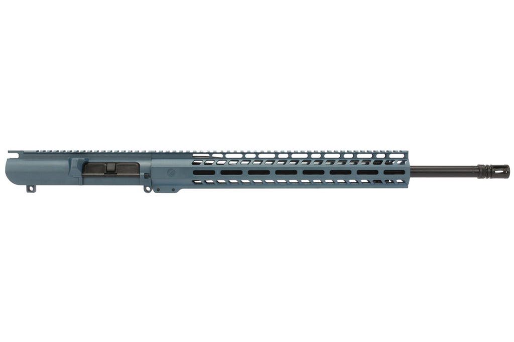 "Grid Defense 20"" .308 Winchester HBAR Barreled Upper - 15"" M-LOK Rail - Blue Titanium"