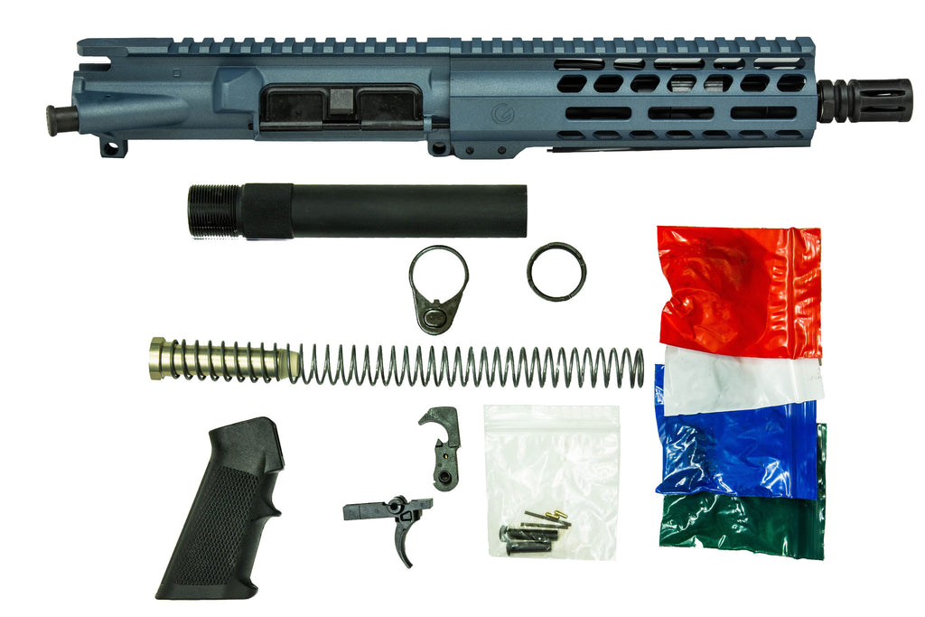 "7.5"" 5.56mm with 7"" M-Lok Pistol Kit Blue Titanium"