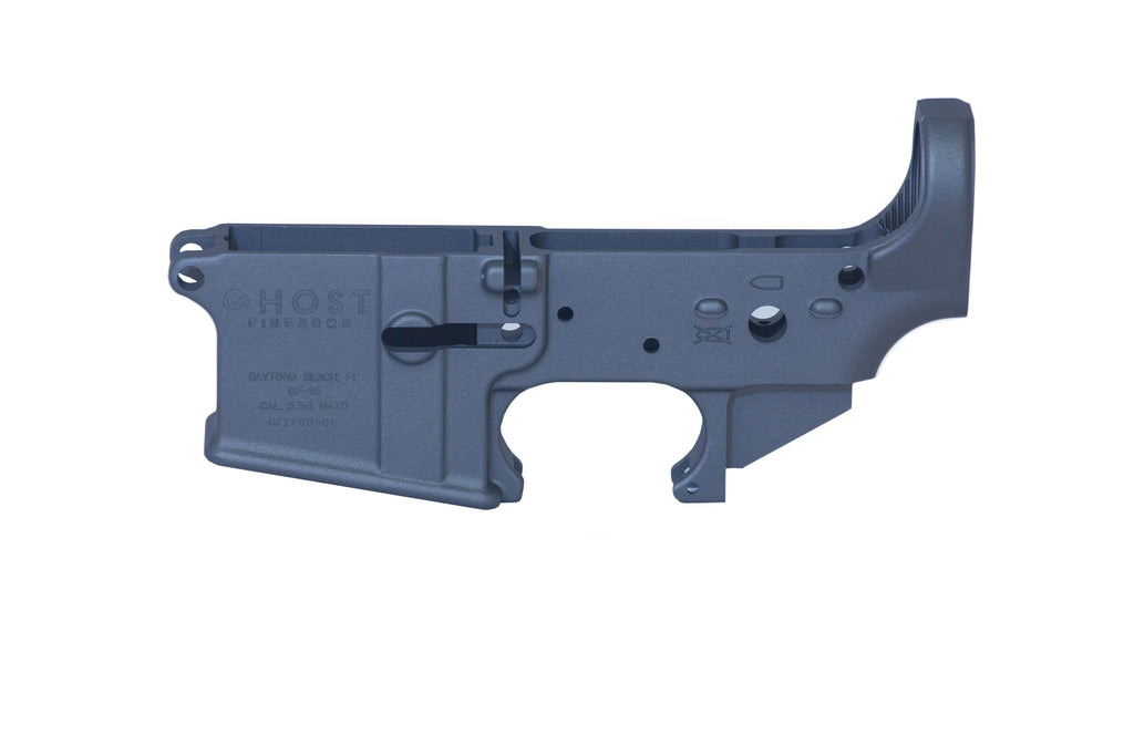Ghost Stripped Lower Receiver - Blue Titanium