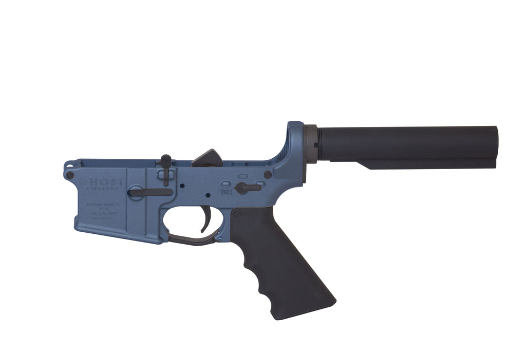 Ghost Complete Rifle Lower Receiver - Blue Titanium