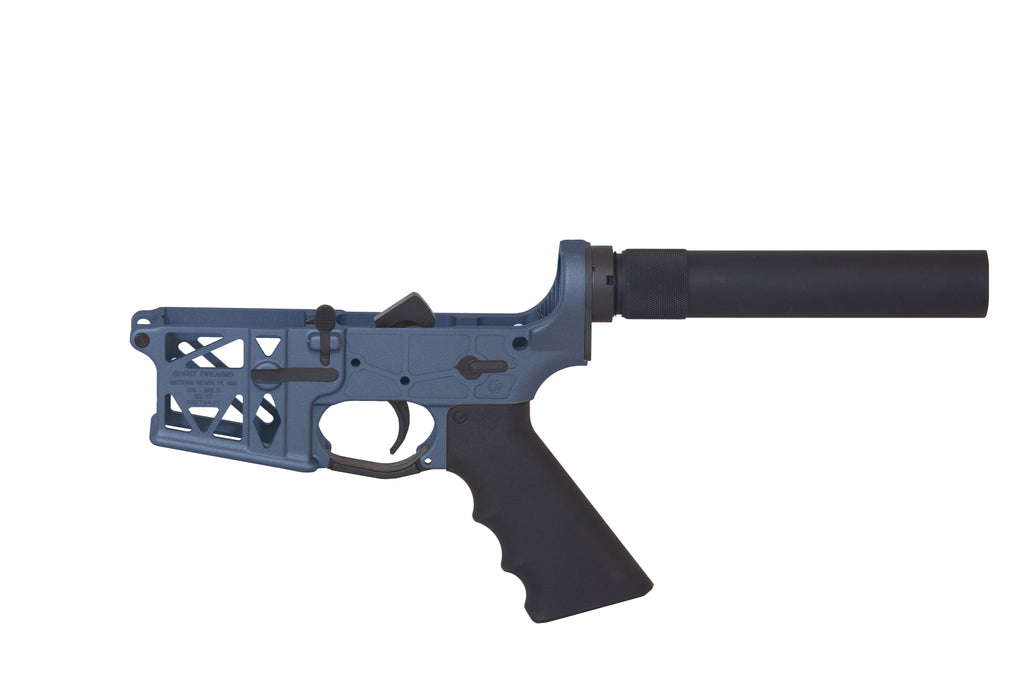 Ghost Complete Pistol Skeletonized Lower Receiver - Blue Titanium