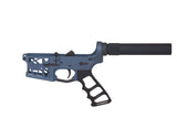 Ghost Complete Pistol Skeletonized Lower Receiver W/ Skeletonized Grip - Blue Titanium