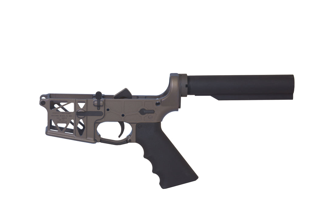 Ghost Complete Rifle Skeletonized Lower Receiver - Burnt Bronze