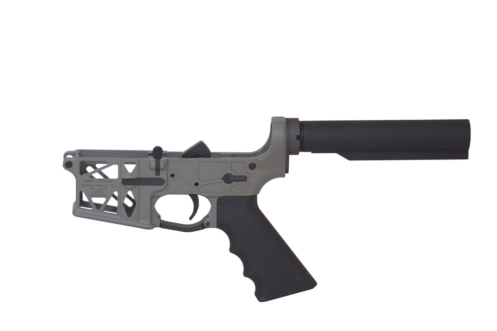 Ghost Complete Rifle Skeletonized Lower Receiver - FDE