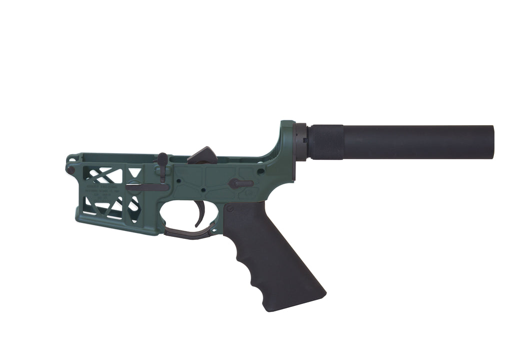 Ghost Complete Pistol Skeletonized Lower Receiver - OD Green