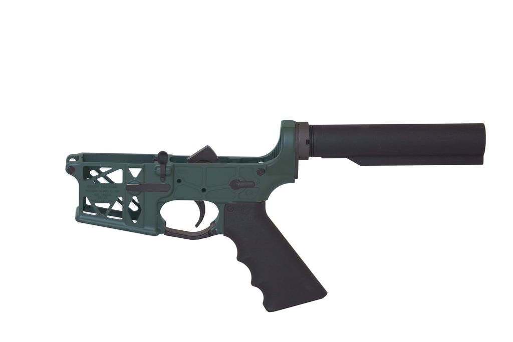 Ghost Complete Rifle Skeletonized Lower Receiver - OD Green