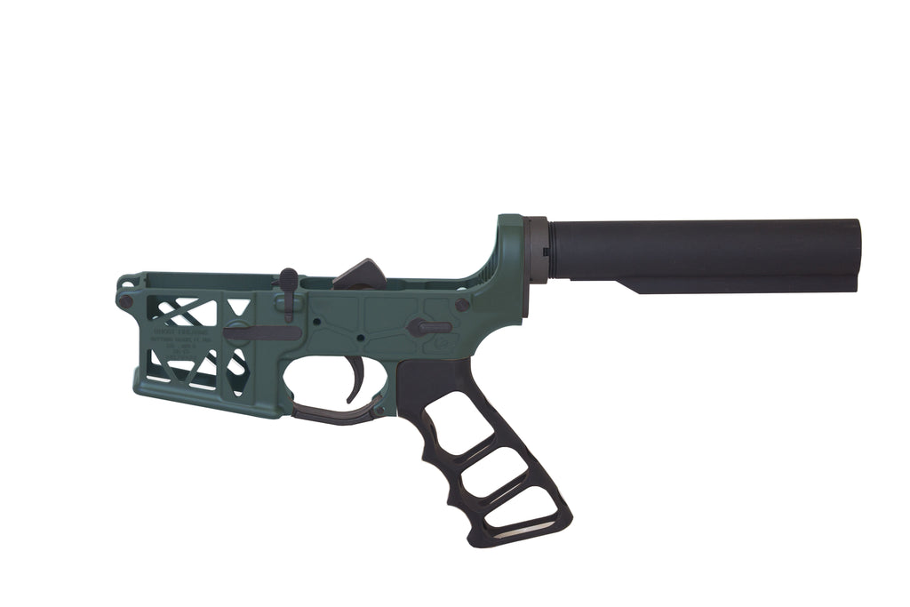 Ghost Complete Rifle Skeletonized Lower Receiver W/ Skeletonized Grip - OD Green