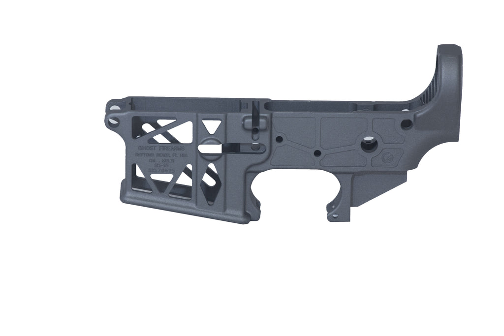 Ghost Skeletonized Stripped Lower Receiver - Tungsten Grey