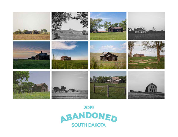 2019 Abandoned: South Dakota Calendar