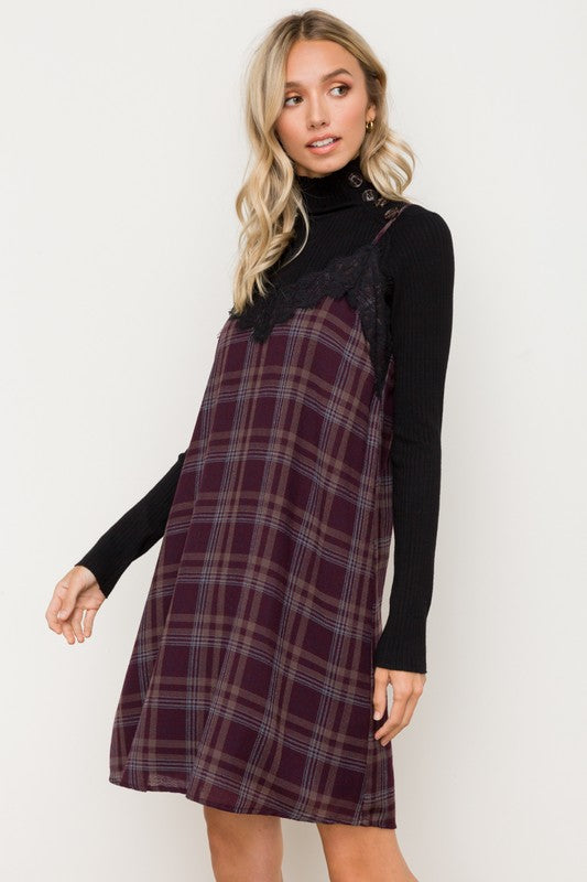 Wicked Plaid Dress