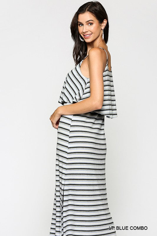 Vanessa Striped Midi Dress
