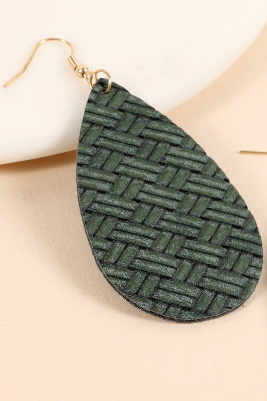 Weave Earrings - Green