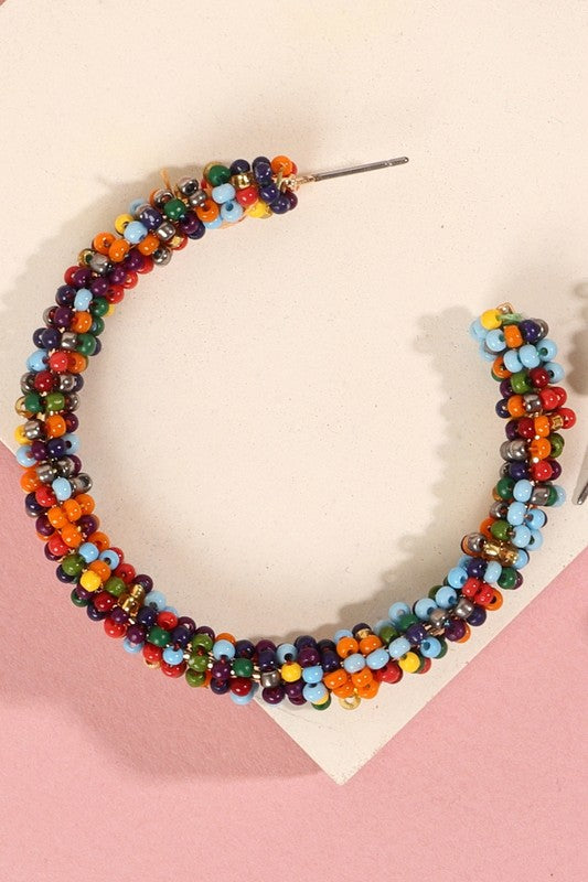 Harvest Seed Bead Earrings