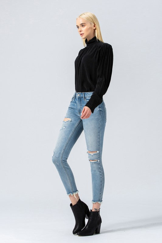 Nirvanna Distressed Skinny Jeans