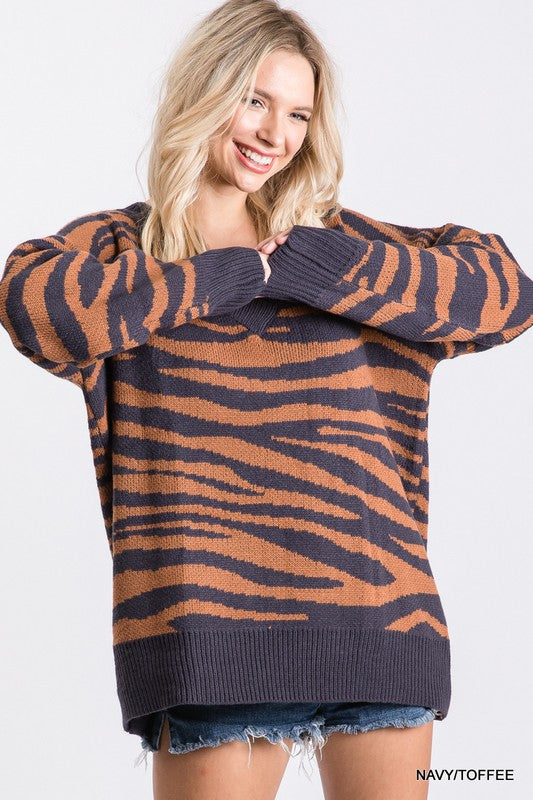 Oversized Zebra Sweater