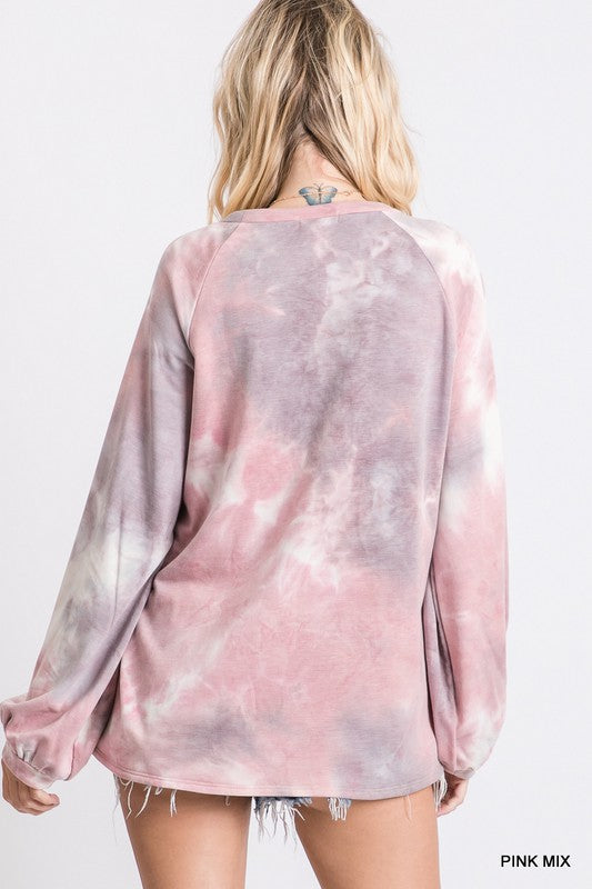 Bubblegum Tie Dye Top