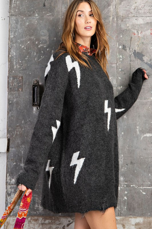 High Voltage Sweater Dress