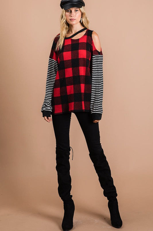 Fireside Buffalo Plaid Top