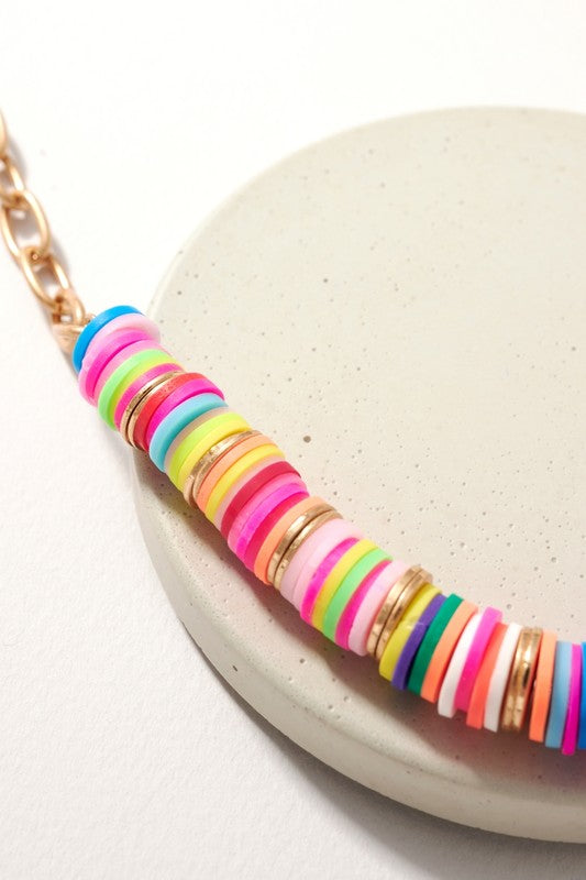 Colorful Rubber Bead Necklace