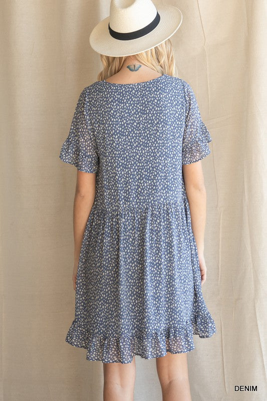Denim Dots Dress
