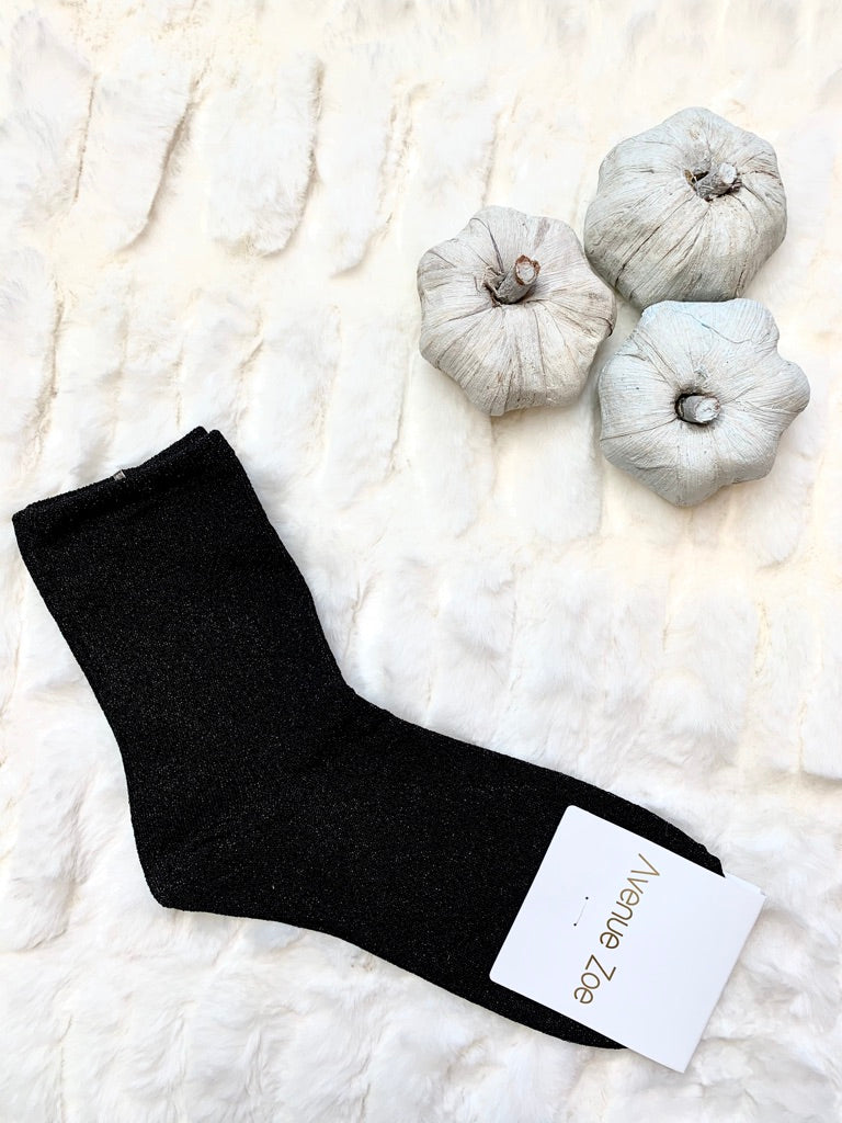 Black Sparkle Socks