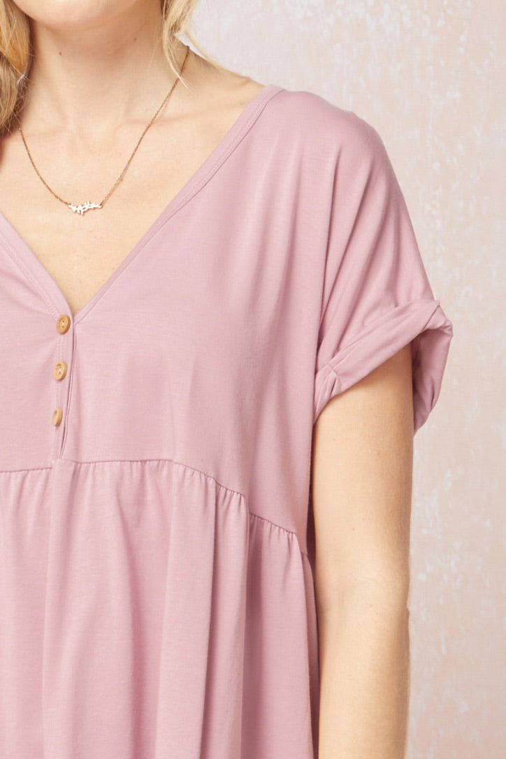 Pretty In Pink Babydoll Top