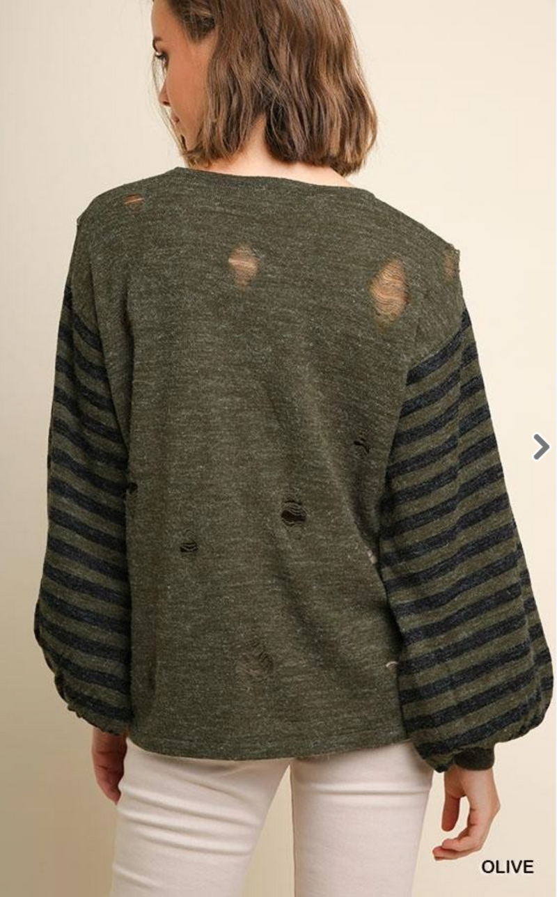 Grungy Distressed Sweater