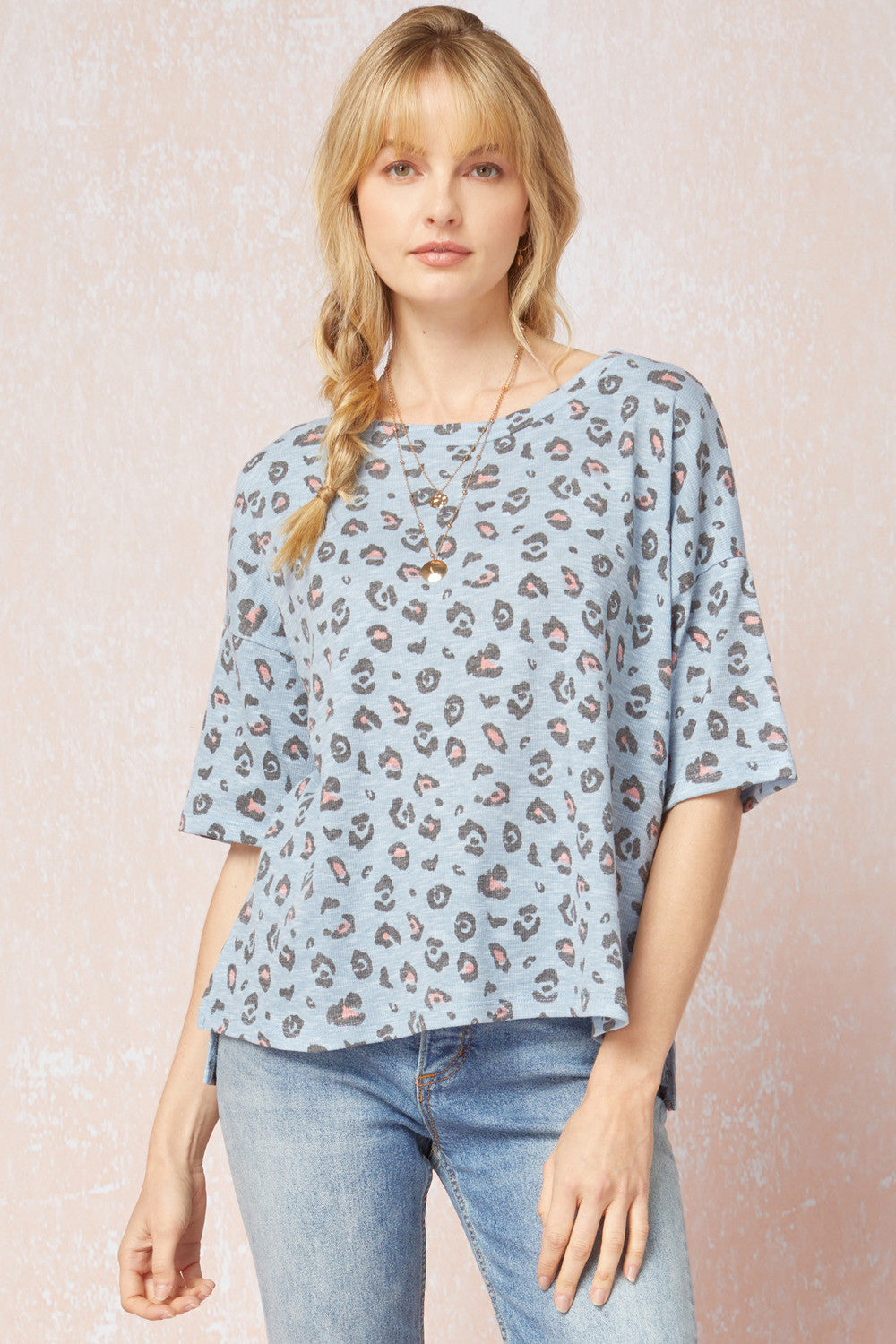 Into The Blue Leopard Top