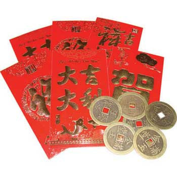 Coin in Red Envelopes set of 6 - House Of Aton
