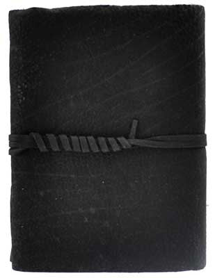 Black Buffalo Hunter leather with cord - House Of Aton