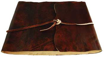 Earth Scrolls leather with cord - House Of Aton