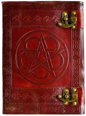 Pentagram Double leather with latch - House Of Aton