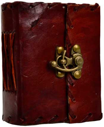 1843 Poetry leather with latch - House Of Aton