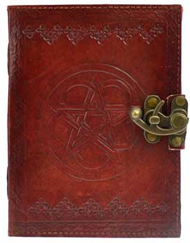 Pentagram leather with latch - House Of Aton
