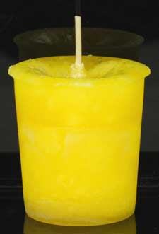 Positive Energy Herbal Votive Yellow - House Of Aton