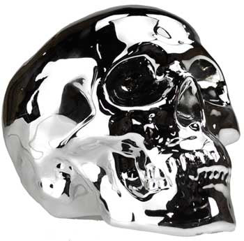 Silver Chrome Skull bank - House Of Aton