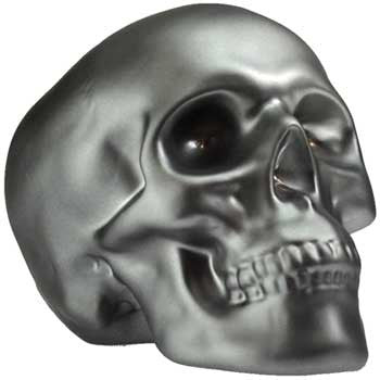 Brushed Pewter Skull bank - House Of Aton
