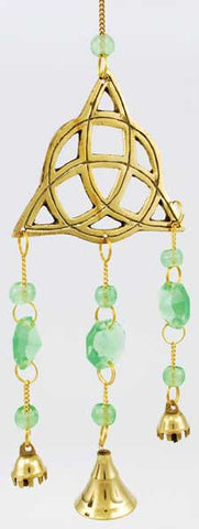 Brass Triquetra wind chime - House Of Aton