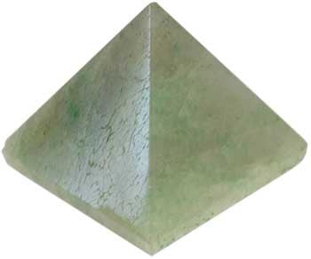 35mm Green Aventurine pyramid - House Of Aton