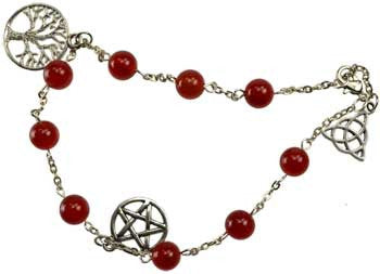 Carnelian anklet - House Of Aton